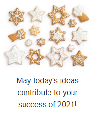 Best of success in 2021!